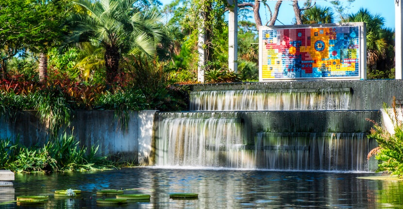 THE REFLECTING POND AT THE NAPLES BOTANICAL GARDENS IN NAPLES FLORIDA