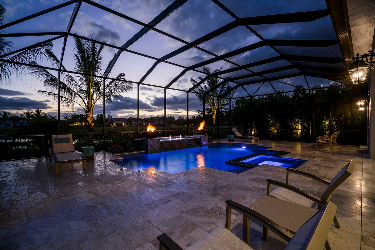 The outdoor living space of the Bettina in Cabreo at Mediterra Naples