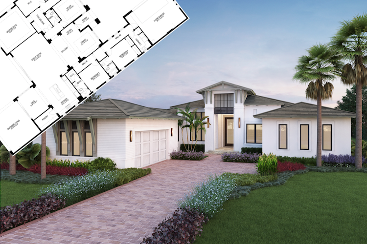 The Carmela is one of the five base floor plans by naples custom home builder london bay homes
