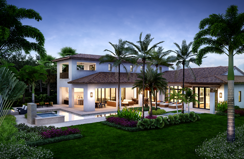 The Catalina follows the Mediterra homes trend of exquisite outdoor living.
