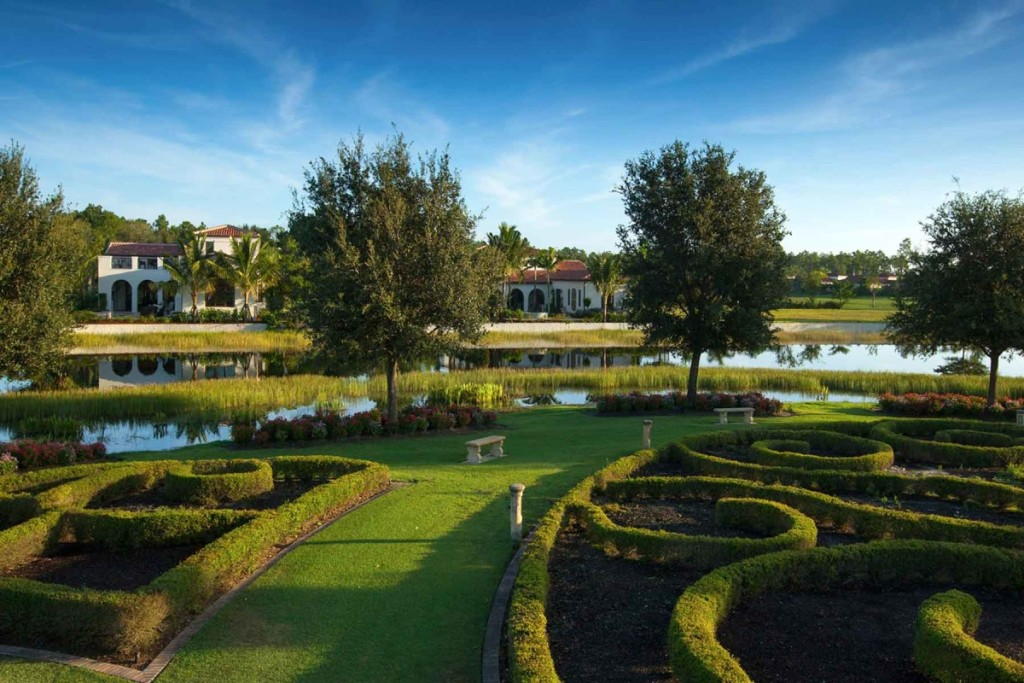 Courtyards in villa homes are just the start of the lush natural beauty in Mediterra.