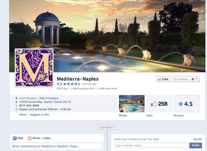 Follow Mediterra on Facebook - new homes in Naples Florida