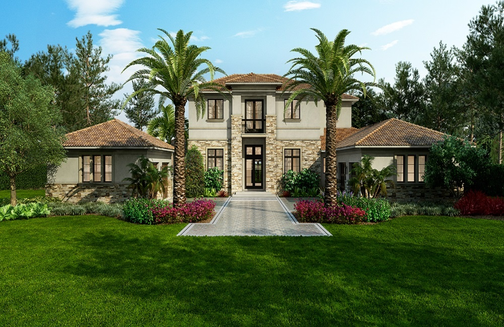 New Construction Home: The Salerno in the maintenance-free neighborhood of Terrazza at Mediterra