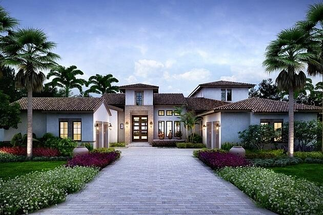 The Catalina is one of the award winning Mediterra homes in Naples.
