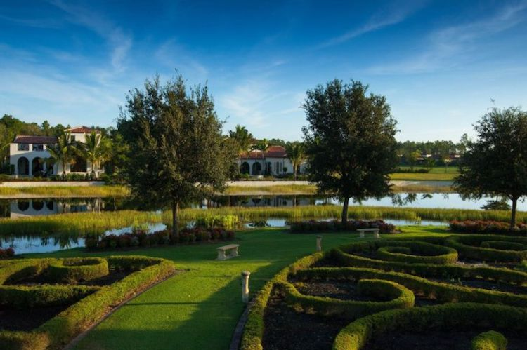 The Labyrinth at Parque Celestial in Mediterra Naples.