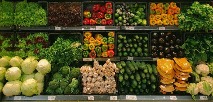 market fresh vegetables fruit supermarket